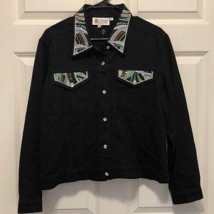 Christine Alexander Sequin Denim Jacket